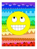 Emoji DESIGN Coloring Page