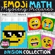 Emoji DIVISION Math Mystery Pictures Bundle