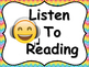 Emoji Daily 5 Posters and Anchor Charts