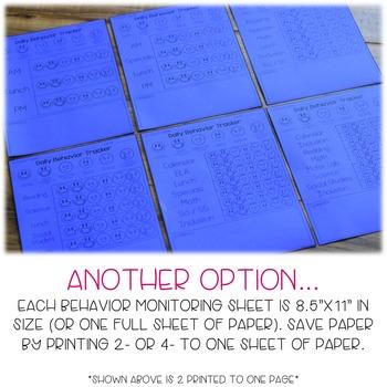 Editable Emoji Daily Behavior Monitoring Form | Communication Notebook