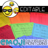 Editable Emoji Daily Behavior Monitoring Form   Communication Notebook
