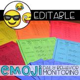 Editable Emoji Daily Behavior Monitoring Form | Communicat