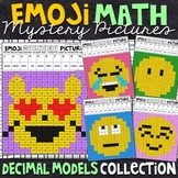 Emoji Decimal Models Mystery Pictures | Decimals Color by Number