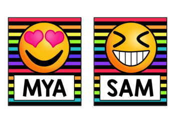 Emoji Classroom Decor {Name Labels} Bulletin Board Idea