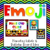 Emoji Classroom Decor {Name Labels} Bulletin Board Idea