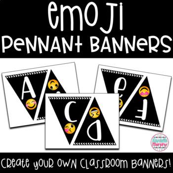 Emoji Decor Pennant Banner Letters