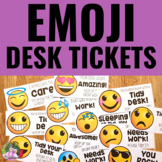 Emoji Desk Fairy and Desk Police Tickets