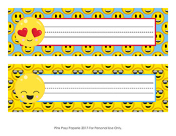 Peachy Emoji Desk Name Plates Classroom Decor Download Free Architecture Designs Scobabritishbridgeorg