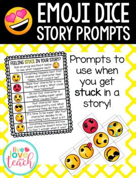 Emoji Dice Story Prompts - Editable