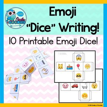 "Emoji ""Dice"" - Writing Activity"