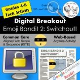 Emoji Digital Breakout - Emoji Bandit 2! Escape Room WEBSITE INCLUDED!