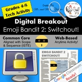 Emoji Digital Breakout - Emoji Bandit 2! Escape Room WEBSITE INCLUDED!