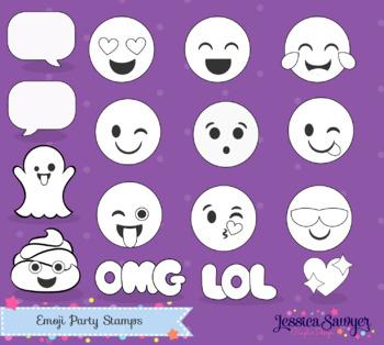 Emoji Digital Stamps Clipart