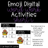 Emoji Digital Word Work Activities: CVC Short I