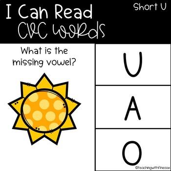 Emoji Digital Word Work Activities: CVC Short U