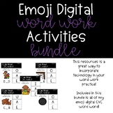 Emoji Digital Word Work Activities: CVC Short Vowels Bundle