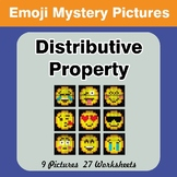 Emoji: Distributive Property - Math Mystery Pictures / Col
