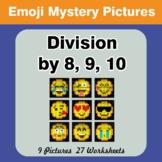 Emoji: Division by 8 / Division by 9 / Division by 10 - Ma