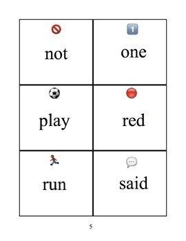 Emoji Dolch Sight Word Flashcards (pre-primer-3rd grade)