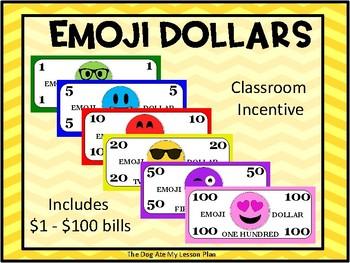 Emoji Dollars (Printer Friendly - Uses Less Ink)
