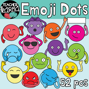 Emoji Dots - Thoughts, Feelings & Emotions Clipart BUNDLE