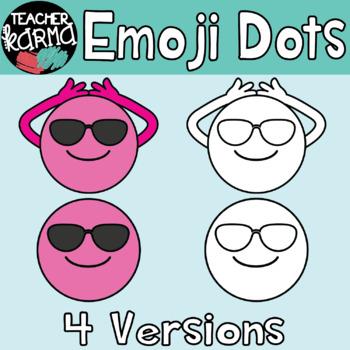 Emoji Dots - Thoughts, Feelings & Emotions Clipart BUNDLE