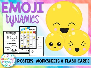 Emoji Dynamics: Posters, Flashcards, Worksheets & Game