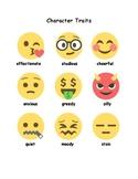 Emoji ELA Graphic Organizers, Character Development Activi
