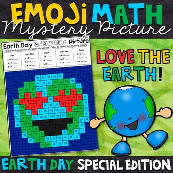 Emoji Earth Day Mystery Picture | Multiplication Facts
