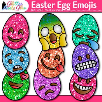 Emoji Easter Egg Clip Art {Emoticons for Brag Tags & Classroom Decor}