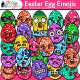 Emoji Easter Egg Clip Art | Emoticons for Brag Tags and Classroom Decor