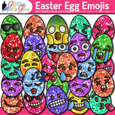 Emoji Easter Egg Clip Art | Emoticons and Smiley Faces for Classroom Decor