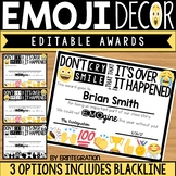Emoji Editable Awards