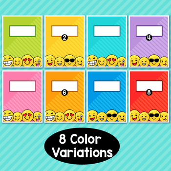Emoji Theme Classroom Decor Editable Binder Covers {B}