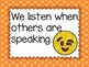 Emoji Editable Classroom Rules