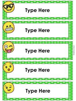 Emoji Editable Labels