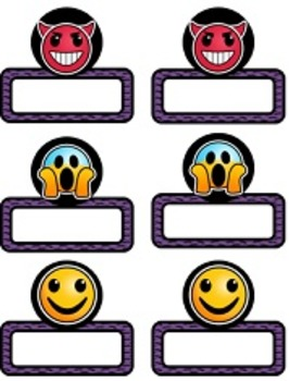 Emoji Editable Name Tags AND 3 Back to School Banners!