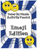 Emoji Edition:  Color By Music Activity Fun Packet - PDF W