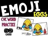 Emoji Egg CVC words Literacy Center Easter or Spring Center