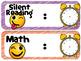 Emoji/Emoticon Daily Schedule {EDITABLE}