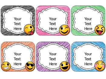 Emoji/Emoticon Name Cards {EDITABLE}
