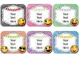 Emoji/Emoticon Name Cards {EDITABLE}