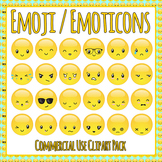 Emoji / Emoticons Clip Art Set for Commercial Use - Emotions, Expressions