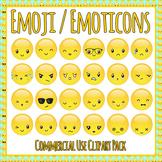 Emoji / Emoticons Clip Art Set for Commercial Use - Emotio