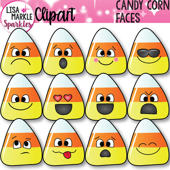 Emoji Emotion Candy Corn Faces Clipart Halloween