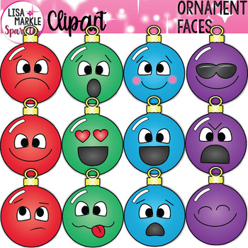 Emoji Emotion Christmas Ornament Face Clipart