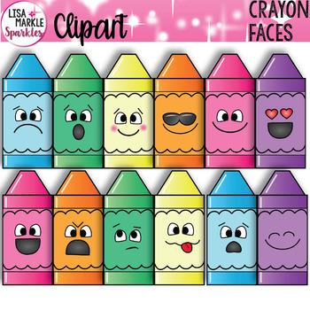 Emoji Emotion Crayon Faces Clipart