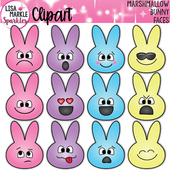 Emoji Emotion Easter Bunny Faces Clipart