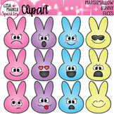 Easter Bunny Clipart with Emoji Faces