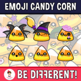 Halloween - Emoji Emotion Faces Candy Corn Clipart